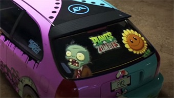 Video Need for Speed, Coche Personalizado: Plants vs. Zombies