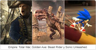 Golden Axe, Empire: Total War, Aliens y el nuevo Sonic, fechados
