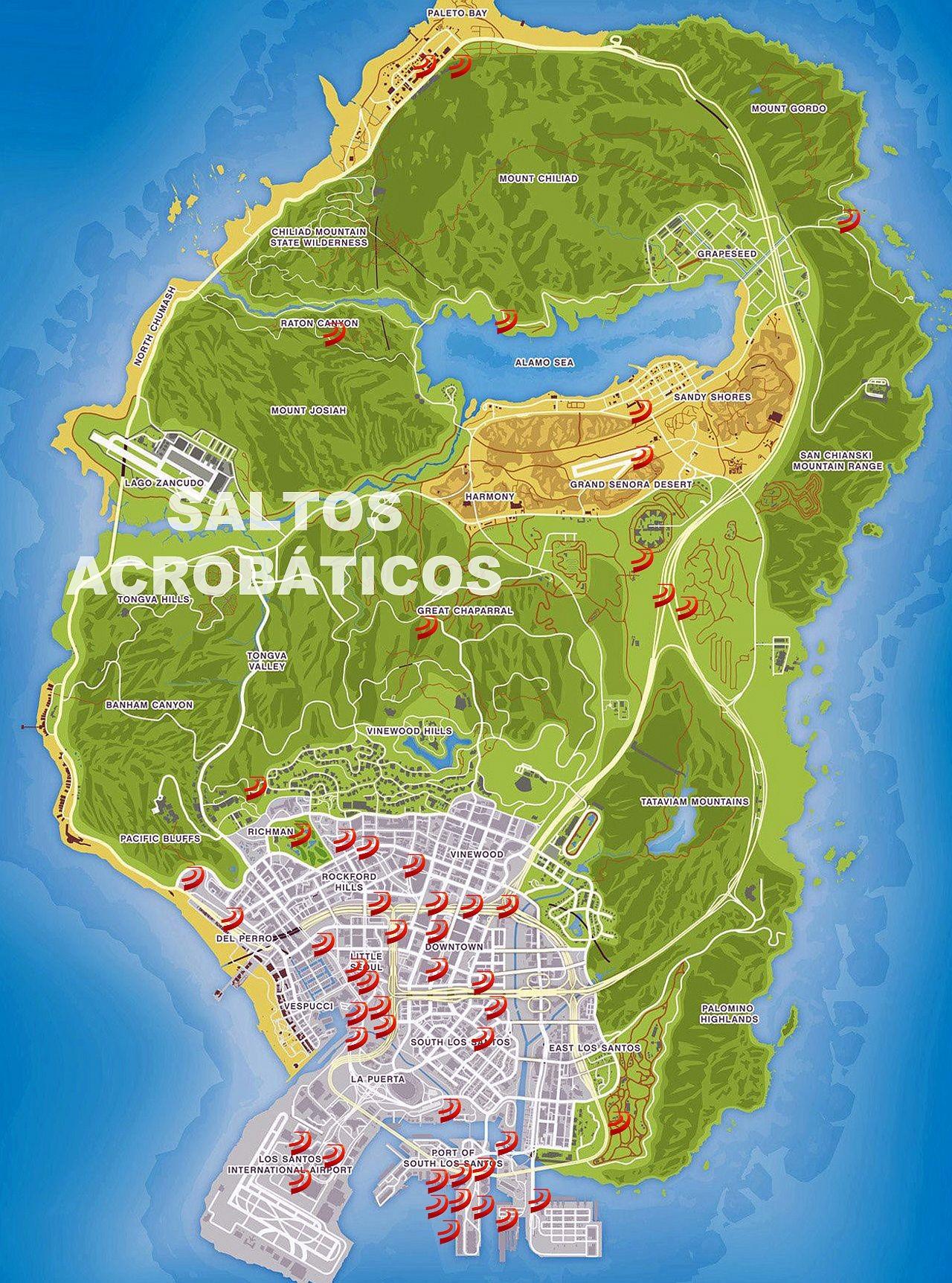 mapas saltos acrobaticos en el foro gta online de ps3
