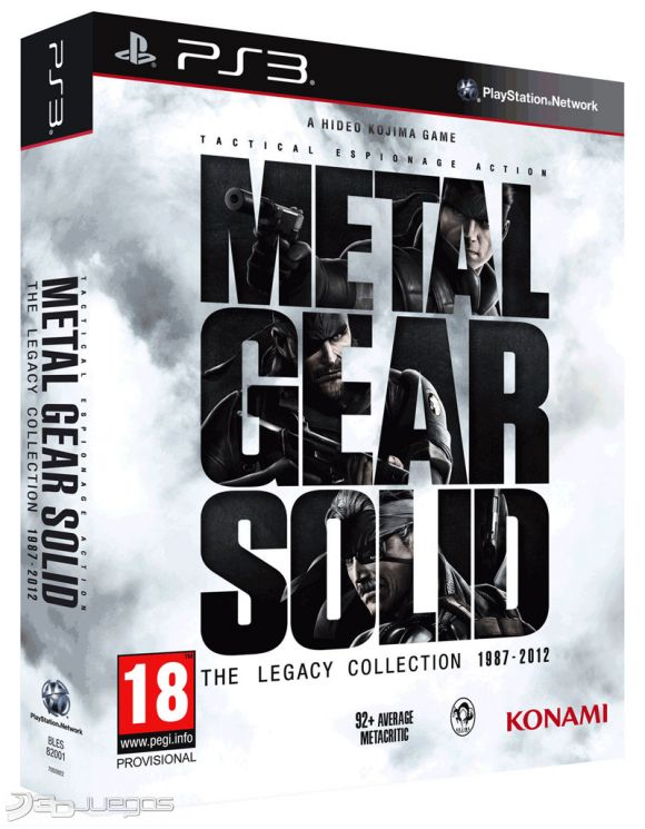 Descargar Metal Gear Solid The Legacy Collection para  PS3
