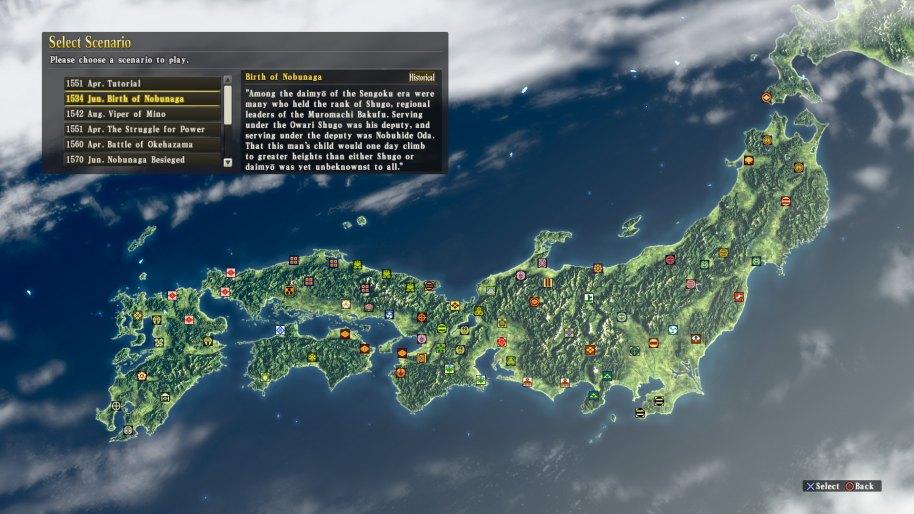 Nobunagas Ambition Sphere of Influence análisis