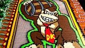 Un aficionado crea el mayor homenaje a Donkey Kong con fichas de dominó