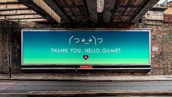Los jugadores dan las gracias a Hello Games por No Man's Sky con un enorme cartel