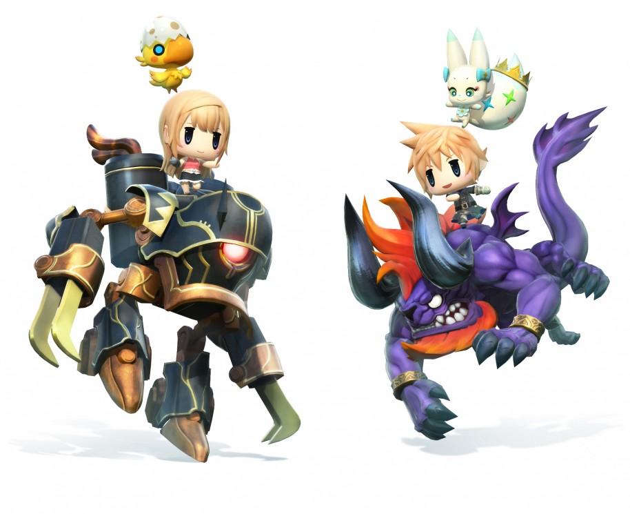 World of Final Fantasy: ¿Chibi o adulto? World of Final Fantasy
