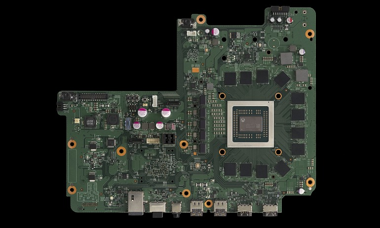 Imagen cortesía de Digital Foundry en la que podemos ver la placa base de la videoconsola.