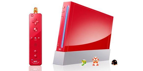 Wii de color rojo para conmemorar el aniversario de Mario llegará a Japón