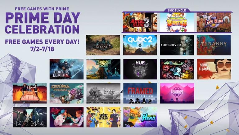 Habrá 21 juegos gratuitos en Twitch Prime a lo largo de julio