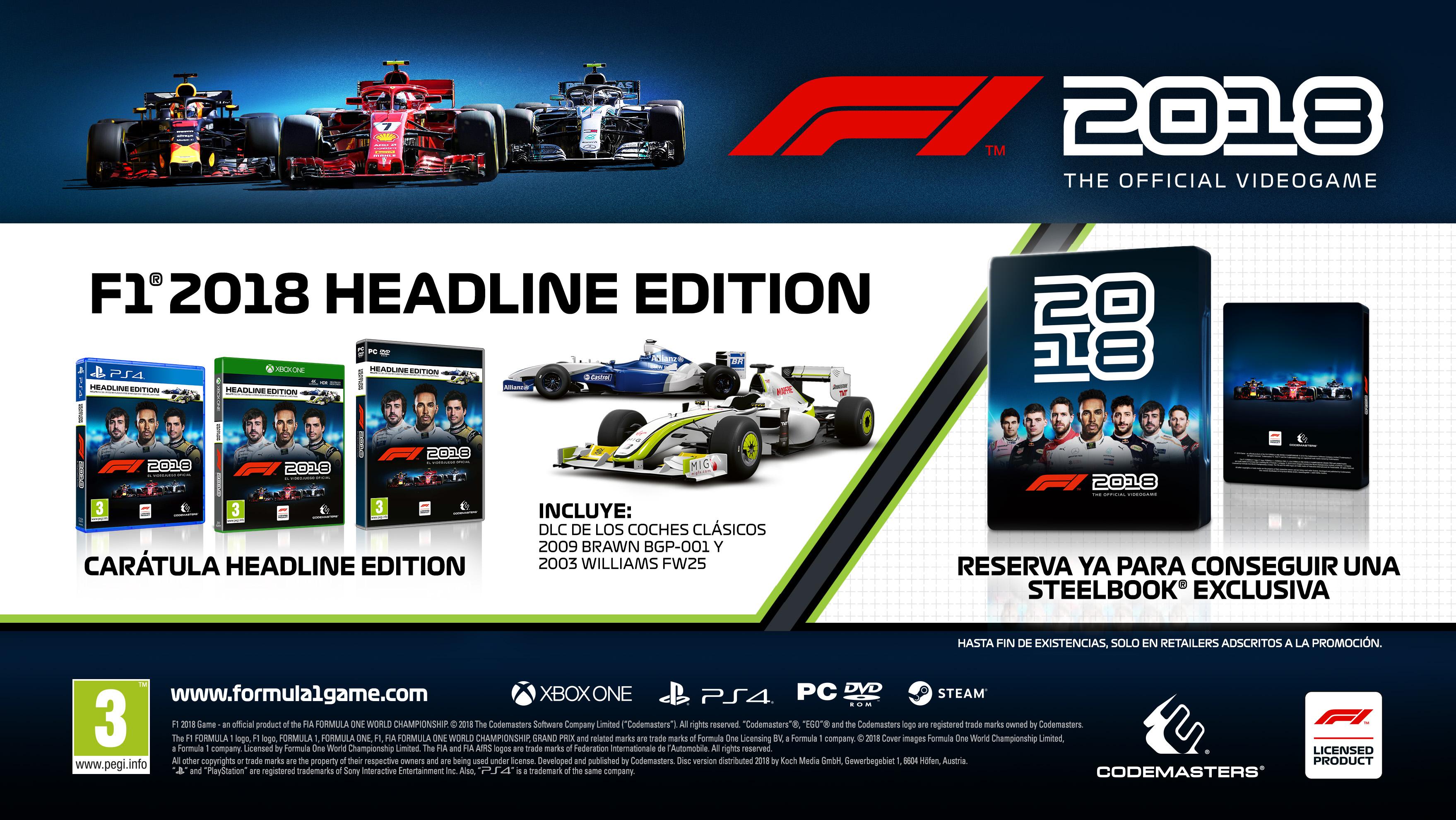 Desvelada la carátula oficial y primeras capturas de F1 2018