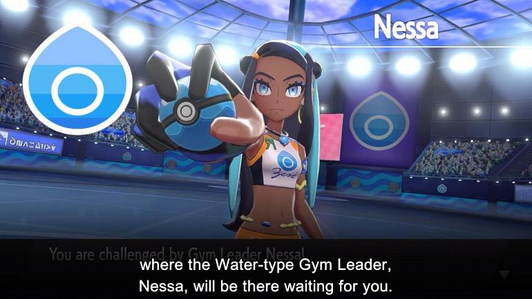Cathy (líder del gimnasio de agua en la nueva región)
