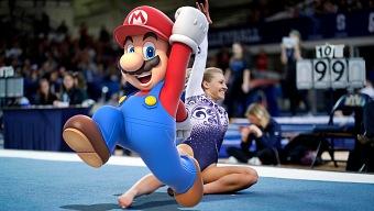 El ejercicio de gimnasia de Super Mario que se ha hecho viral