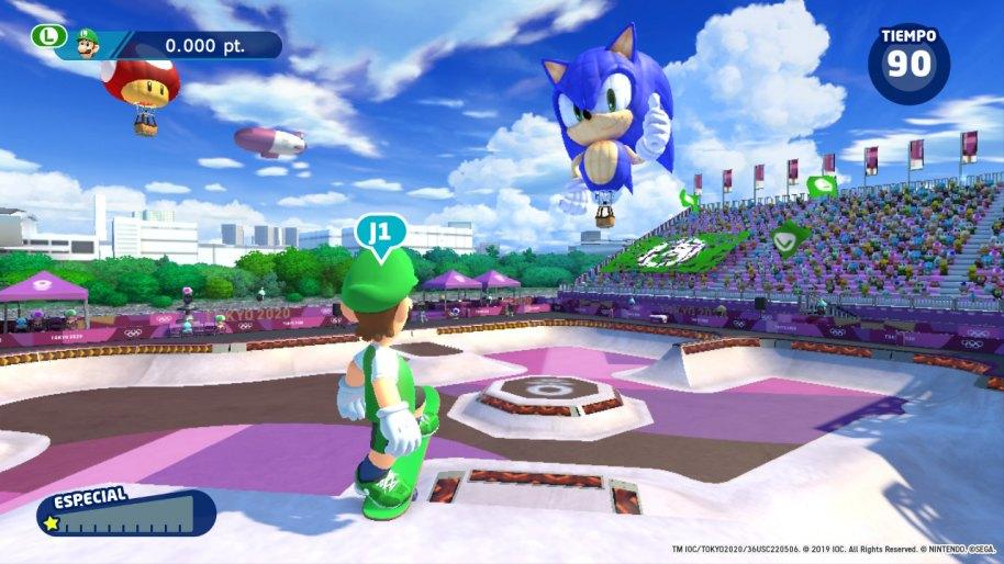 Mario y Sonic JJ.OO Tokio 2020