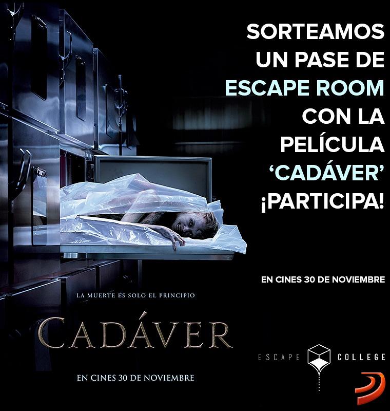Sorteamos un pase de Escape Room con la película Cadáver