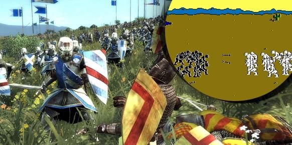 The Ancient Art of War es lo más parecido a un RTS que había en la década de los 80, y ya presentaba fuertes lazos con el tipo de representaciones de las batallas que se llevarían 30 años después.