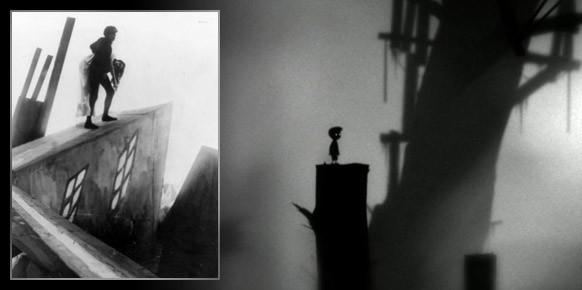 Junto a una imagen de Limbo el trabajo de Conrad Veidt y Lil Dagover inspirado en el expresionismo alemán.