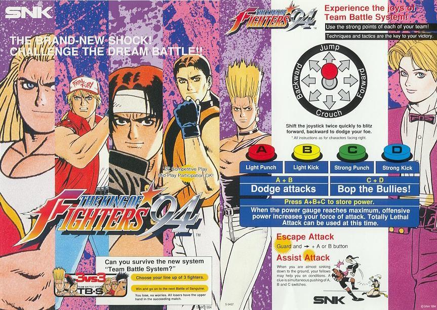 Aquí comenzó todo. Cuatro botones, 8 equipos y 24 luchadores dispuestos a convertirse en el King of Fighters.