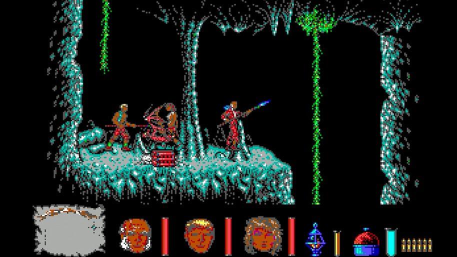 Los dos primeros niveles del juego. El ya emblemático puzle, todo un quebradero de cabeza para toda una generación, y el complejo laberinto que le seguía.