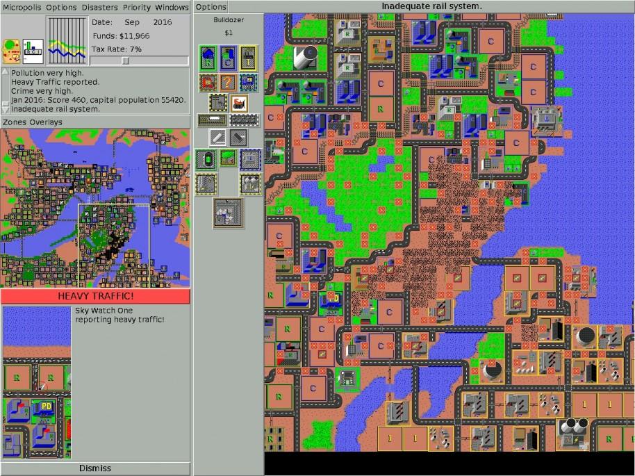 Micropolis fue el antecesor del legendario Sim City y se publicó en 1989, tras años de desarrollo.