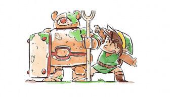 Un artista rinde homenaje al primer Zelda con divertidas ilustraciones de Link y los enemigos del juego