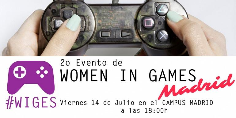 El 2º Women in Games se celebrará en Madrid el 14 de julio
