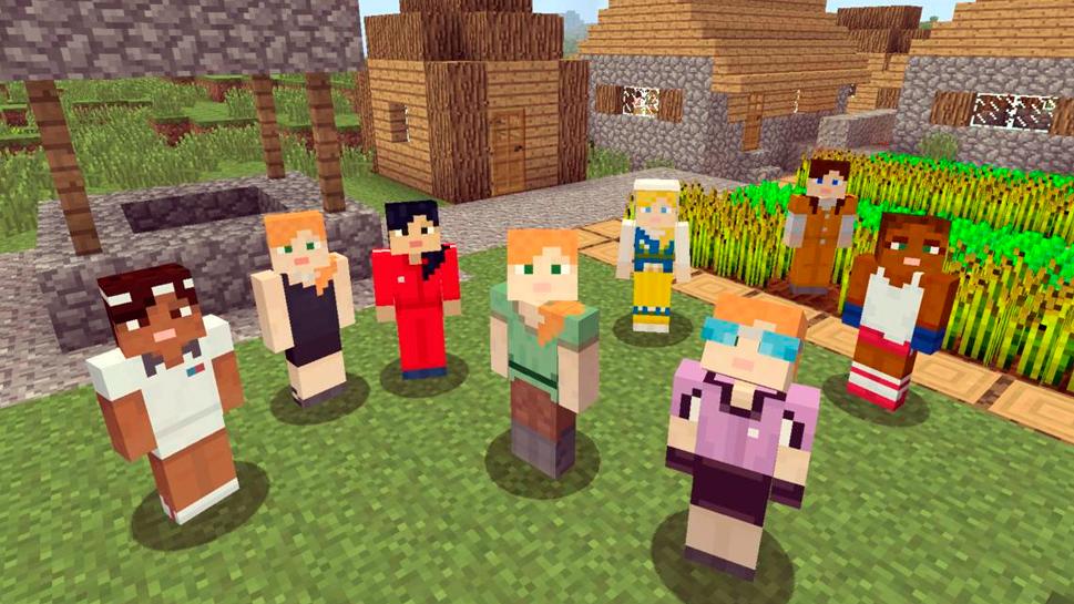 La característica de creador de personajes ya está disponible en Minecraft