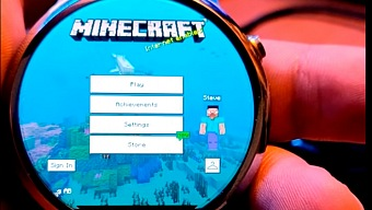 Puedes jugar a Minecraft en tu reloj
