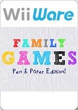 Carátula de Family Games : Pen & Paper Edition - Wii