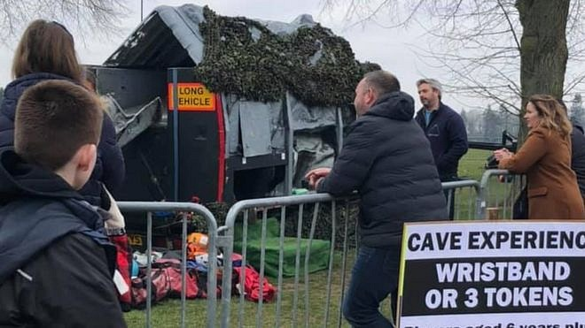 """La atracción """"Cave Experience"""". Foto: BBC."""