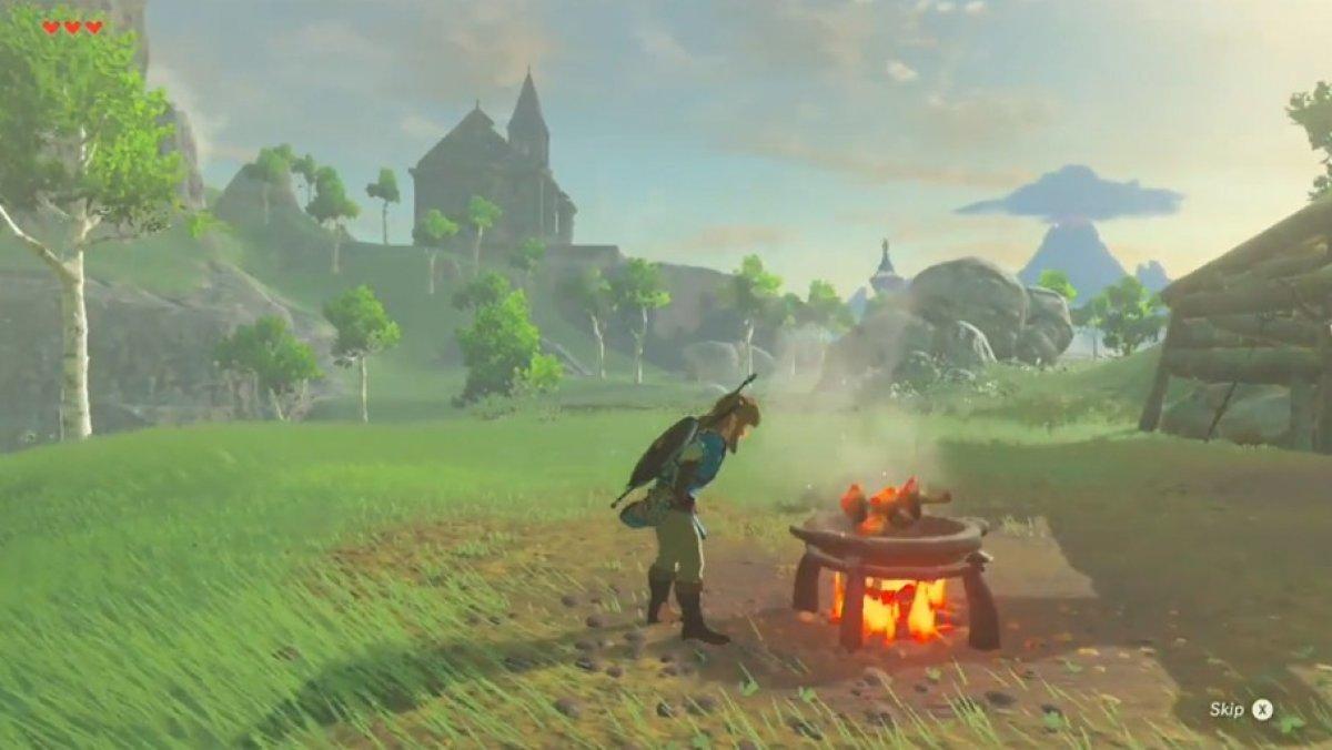 Zelda breath of the wild cortando un rbol wii u switch for Cocinar zelda
