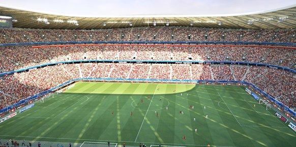 Uno de los estadios de PES 2014